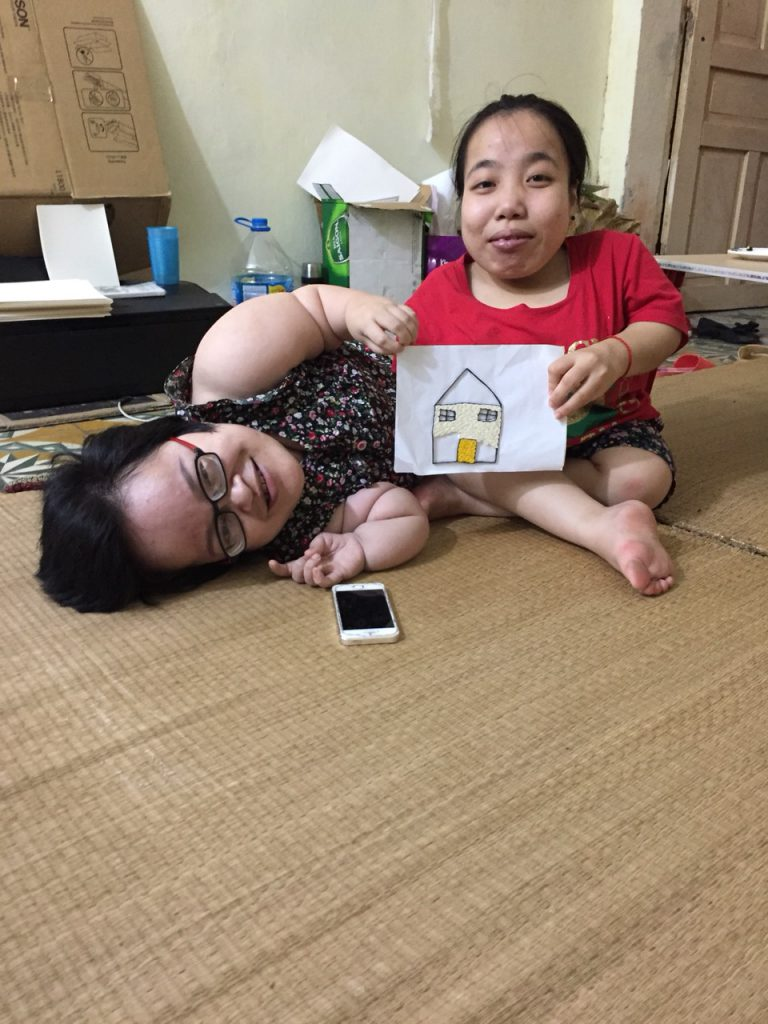 Ms Thuong Thuong and Quynh- her trainee at Viet Nam- Korea Rehabilitation Center