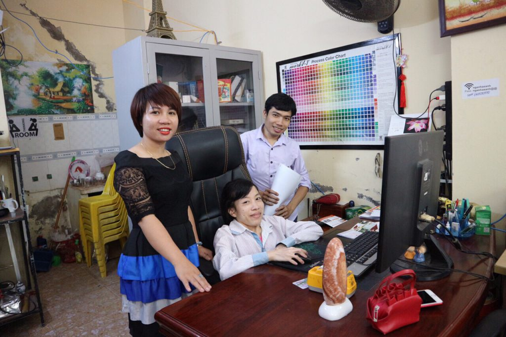 Vocational training for people with disabilities at Ngan Ha Xanh Enterprise